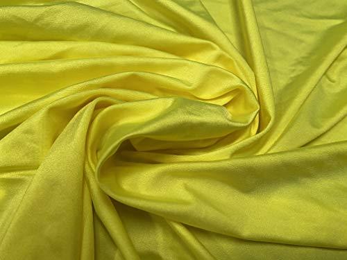 Tessuto elasticizzato per costumi da bagno in spandex a 4 vie, al metro, colore giallo