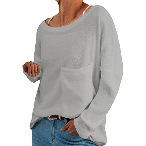 Herbst Neuer Fleecepullover Langarm Rundhalsausschnitt T-Shirt Damenoberteil