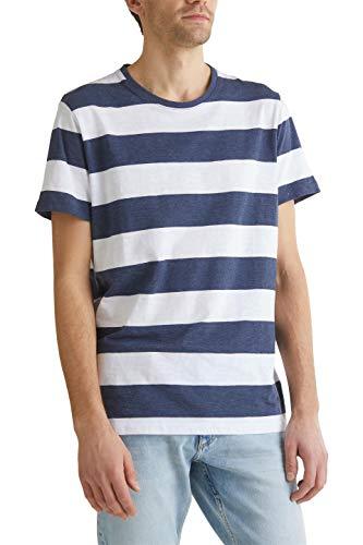 ESPRIT Herren 040EE2K327 T-Shirt, 402/NAVY 3, XS