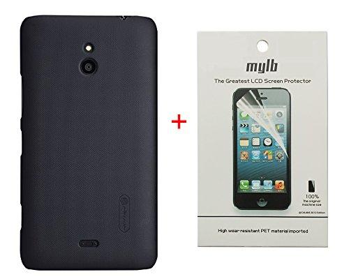 Dolextech Custodia Guscio di Protezione di Alta qualità per Nokia Lumia 1320 100% NILLKIN Back Cover(Nero)