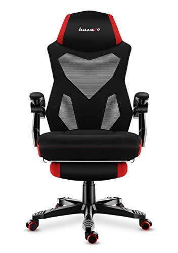 huzaro red Combat 3.0 Gaming Stuhl Bürostuhl Schreibtischstuhl Verstellbare Armlehnen Ergonomisches Design Fußstütze Rot, Standard