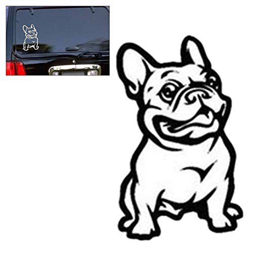 Vosarea Pegatinas Adhesivas Adhesivas de Vinilo Adhesivo para automóvil en Vinilo francés Bulldog Dog Car Sticker (Negro)