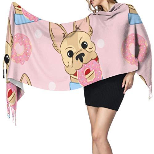 Niedlicher Cartoon-Tier-Überraschen-Tuch, leicht, 196 x 68 cm, groß, weich, Pashmina, extra warm