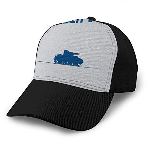 Hongyan Baseballkappe Panzer VOR Girls und Panzer, blau, verstellbar, atmungsaktiv, für Herren und Damen