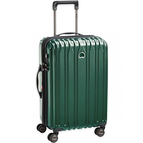 Delsey Paris Chromium Lite 21-Inch Spinner Carry-On With Expansion (Emerald Green)