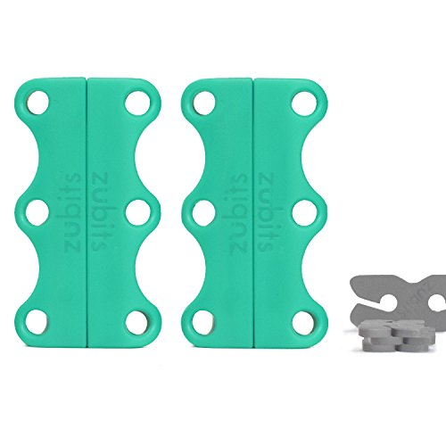 zubits® - Magnetische Schuhbinder/Magnetverschlüsse für Schuhe - Größe #2 Jugendliche und Erwachsene in türkis