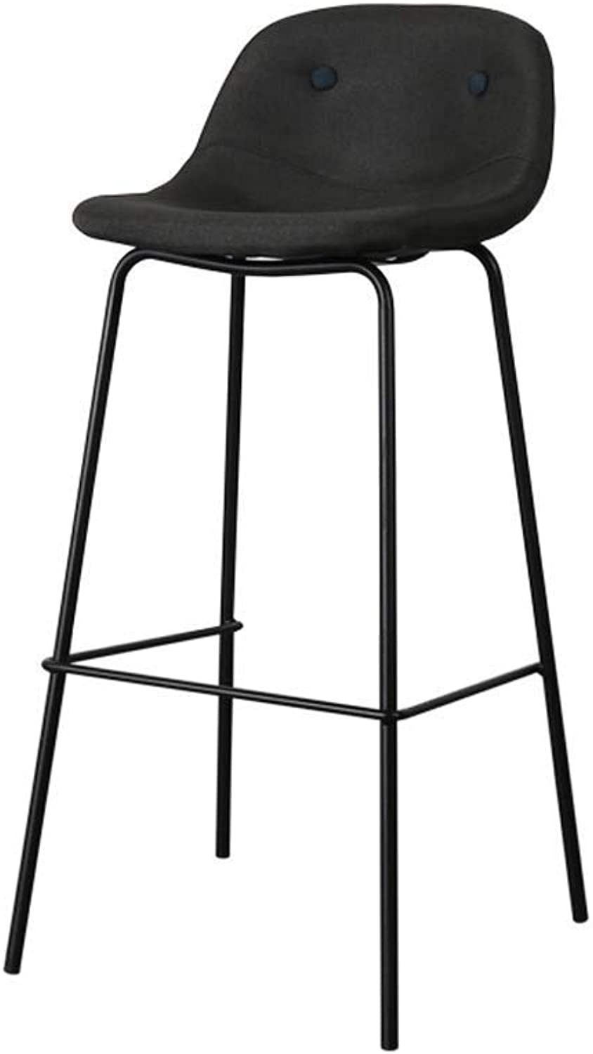 LYJ Linen Fabric seat Bistro, Counter Stool bar Stool for Indoor Outdoor (color   D)