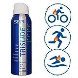 TRISLIDE Spray Impermeable Transparente Multideporte Anti-Rozaduras para Trajes De Buceo De Triatlón Swimrun (136 ml)