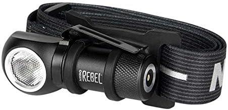 Nebo Unisex – Rebel hoofdlamp voor volwassenen, zwart, 7,2 cm