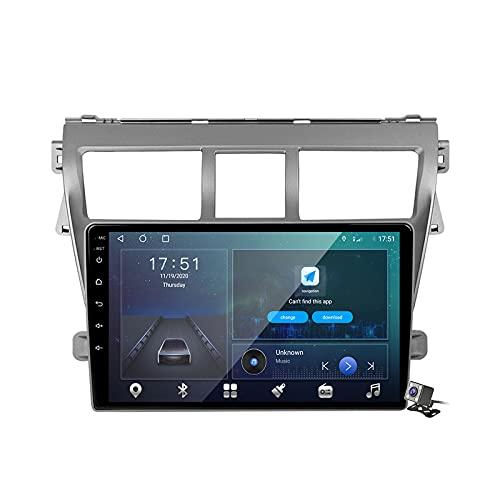 Android 10 Car Radio de Navegación GPS para Toyota Vios 2 2007-2013 con 9 Pulgada Pantalla Táctil Support FM Am RDS DSP/MP5 Player/BT Steering Wheel Control/Carplay,M500