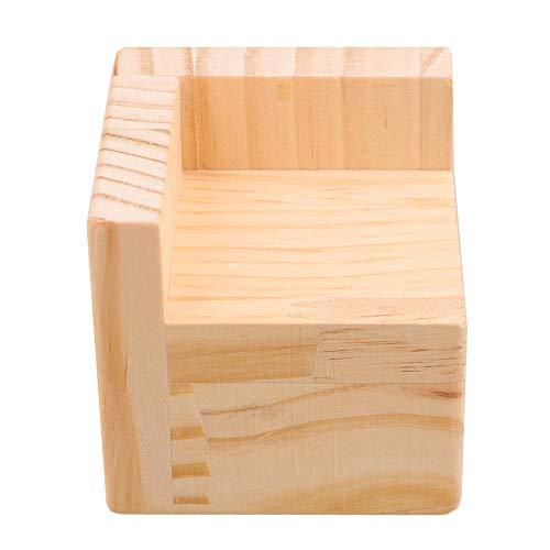 BQLZR 7.5x7.5x7.3cm Semi-cerrado Mesa de madera en forma de L Escritorio de la cama Riser Lift Lifter Almacenamiento de muebles para 6x6cm Pies hasta 5CM Levante