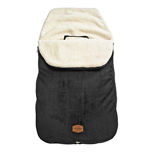 JJ Cole - Original Bundleme, Canopy Style Bunting Bag to Protect Baby from Cold and Winter Weather in Car Seats and Strollers, Blackout, Toddler
