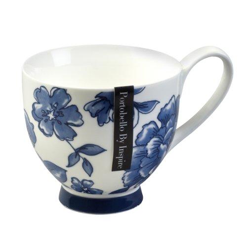 China Footed Mug Perla Blue CM02307