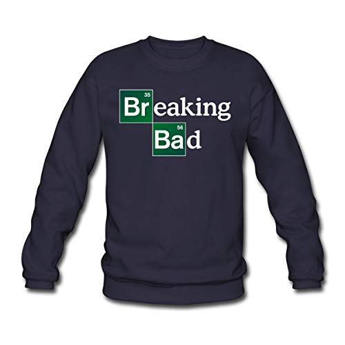 Spreadshirt Breaking Bad Logo Brom & Barium Unisex Pullover, L, Navy