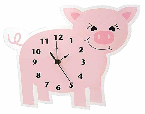 Baby Barnyard Piglet Wall Clock