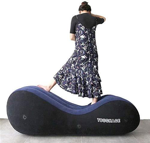 Aufblasbares Séx-Sofa mit Handschellen und Beinschellen - Yoga-Chaise-Lounge/Relax-Stuhl/Chaise-Lounge/Air-Sofa/tragbare aufblasbare Möbel