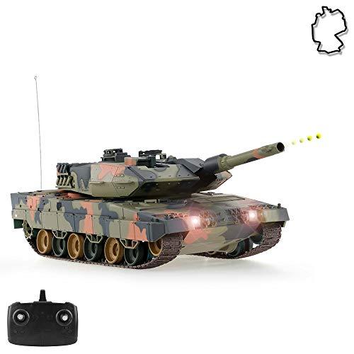 HSP Himoto German Leopard 2A5 Airsoft KFOR-Edition - RC Ferngesteuerter Panzer mit Airsoft Schuss, Sound und...