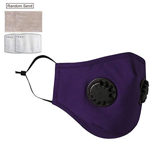 AIJU Staubmaske mit wiederverwendbarer Doppelventil-Anti-Staubfilter-Maske Sonnenschutz-Gesichtsabdeckung zum Fahren