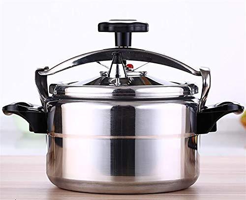 Cuisinière à pression en alliage d'aluminium, cuisinière à pression anti-explosion commerciale, autocuiseur interne à grande capacité avec double serrure de sécurité, convient à la cuisine de l'hôtel