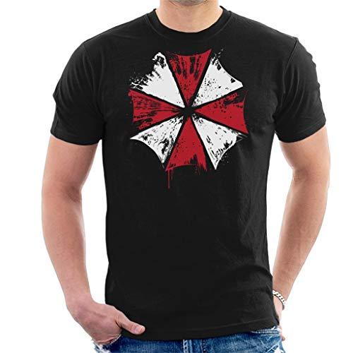 Cloud City 7 Resident Evil Umbrella Corp Ink Logo Men's T-Shirt