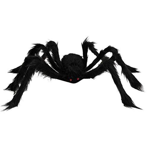 WARMWORD Nueva de la araña de la Felpa de la marioneta del Juguete Araña de Halloween Decorativa Accesorios Araña de Peluche de simulación de Halloween Decorativo 50 x 50cm/19.5 x 19.5inch