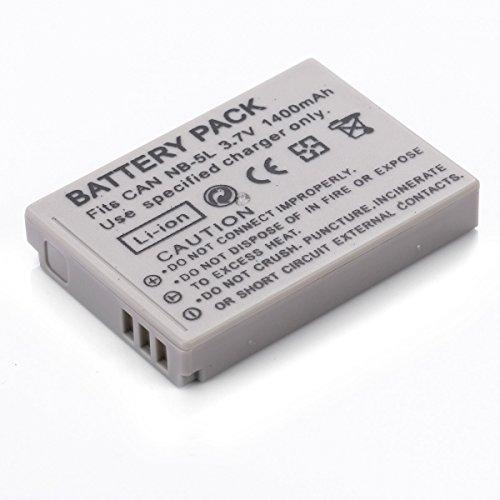 Rusty Bob - NB-5L Akku | Kompatibel mit Canon Powershot S100/S110 SX200 is SX210 is SX220 HS SX230 / Ixus 950 960 970 980 990 (Premium Qualität) - Akku