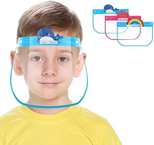 Reusable Kids Face Shield 6 PCS Plastic Safety Kids Face Shield Adjustable Transparent Full product image