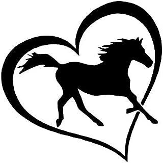 CCI Horse Love Heart Decal Vinyl Sticker|Cars Trucks Vans Walls Laptop|Black|5.5 x 5.5 in|CCI2057