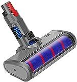 MeiBang - Cabezal de cepillo para aspiradora Dyson Cyclone V11 V10 V8 V7 sin hilos, cepillo de suelo eléctrico con ruedas suave, repuesto de accesorio para parqué, suelos duros,