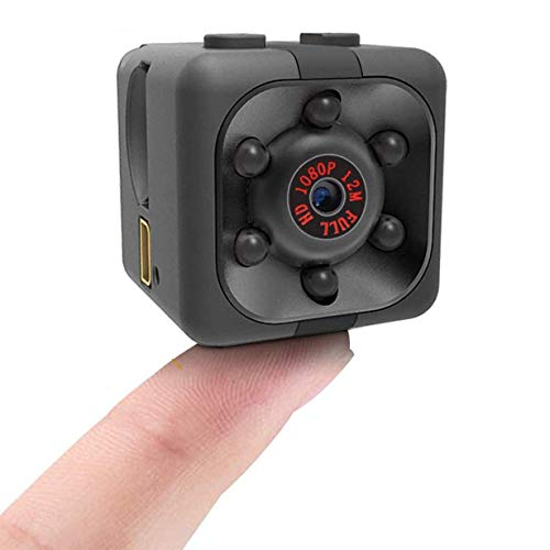 1080P HD Mini Spy Camera with Night Vision and Motion Detection, Rechargeable Battery Powered Hidden Camera, Surveillance Camera, Nanny Cam for Kids and Pets and Home Security