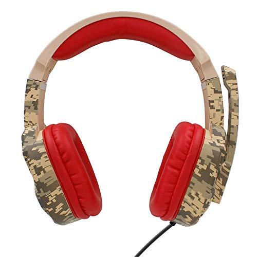 Auriculares para Juegos Gaming Headset estéreo de 3,5 mm de Control con Cable de Alta sensibilidad Reducción de Ruido con micrófono Auricular for Juegos (Color : Multi-Colored, Size : M)