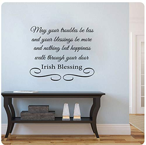 Sticker mural Irish Blessing May Your Troubles Be Less and Your Blessings Be More