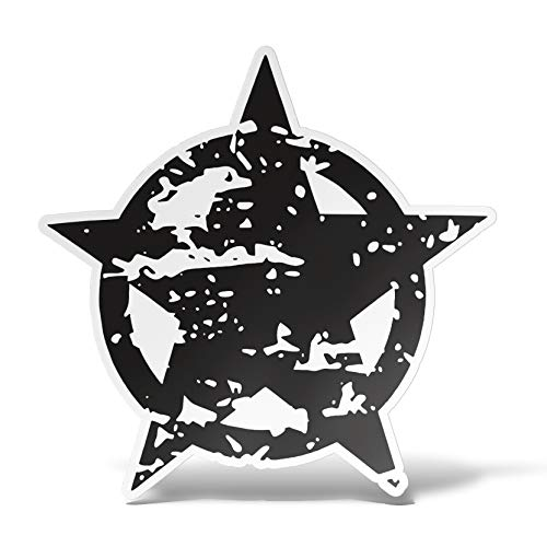 erreinge armée Militaire Autocollant en Forme d'étoile Autocollant Autocollant pour PVC Auto Moto Peint Casque Camper pour Ordinateur Portable - 10 cm