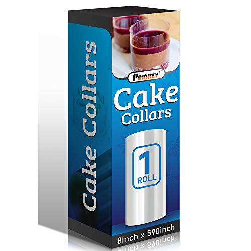 Cake Collars 8 x 591inch, 150micron Thickness Cake Film Transparent, Acetate Sheets for Baking, Best Choice for Decorating Mousse, Chocolate, Pastry and Making Other Cakes