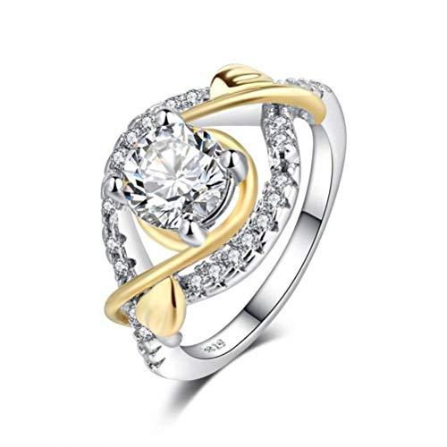 Thumby handgemaakte harten en pijlen zirkoon gouden set met diamant kleur bloem ring, semi-kostbare stenen, vrouw, Sweet Style, partij pavé instelling, planten, Cocktail partij ringen, micro-Set, Transparen