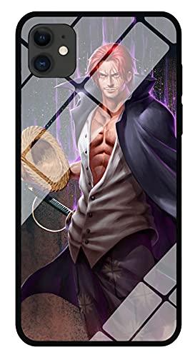 Funda para Teléfono con Imagen De Anime One Piece Funda para iPhone con Brillo Nocturno Carcasa Protectora De Cristal Templado Moda Genial Compatible con iPhone 12
