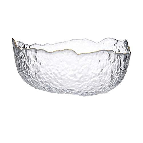 Tazón 20 cm ensaladera de cristal en forma de/dim sum bol/tazón de fruta/tazón de hogar/verduras de agua pantalla de vidrio transparente/tazón de pastelería/Postre cuenco/tazón de arroz