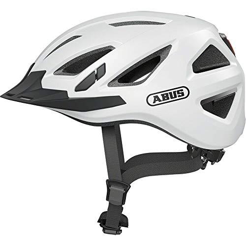 ABUS Unisex-Erwachsene Urban-I 3.0 Fahrradhelm, polarweiß, L (56-61)