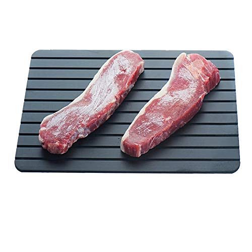 True Face Defrosting Tray Quick Defrost Frozen Food Plate Black Fast Thaw Aluminium Meat Board
