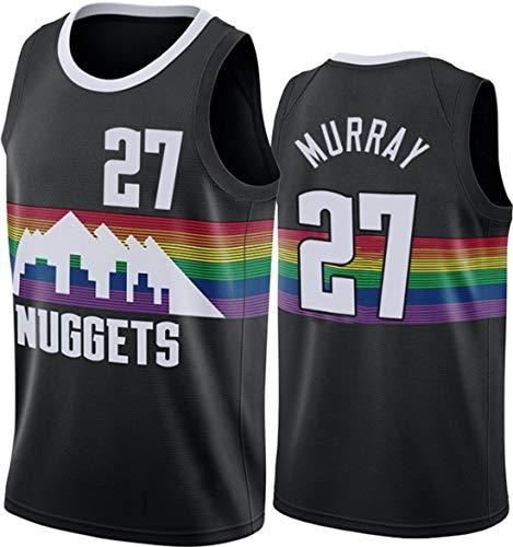 ATI-HSKJ Jamal Murray 27# Maglie, NBA Nuggets Abbigliamento da Basket da Uomo Cool Tessuto Traspirante Swingman Canotta Senza Maniche Top Abbigliamento,XL