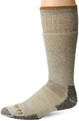Carhartt Men's Big and Tall Arctic Wool Heavy Boot Socks, Heather Grey, Shoe Size: 11-15