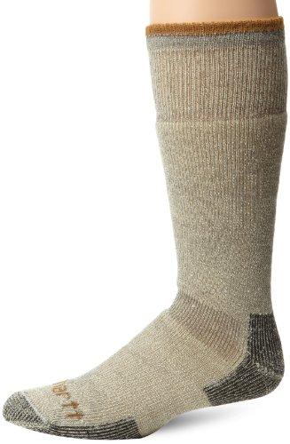 Carhartt Men's Arctic Wool Heavy Boot Socks, Heather Grey, Shoe Size: 6-12