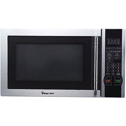 Magic Chef MCM1110ST 1.1 Cubic-Ft, 1,000-Watt Microwave with Digital Touch Stainless Steel