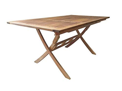 SEDEX Ramsey Gartentisch 110-160x90 cm/Auszugtisch/Holztisch/Eukalyptus FSC 100%