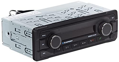 Blaupunkt Dublin 112 BT Heavy Duty Radio para Coche 12V   1DIN   Manos Libres Bluetooth y Audio   USB   Conexión del Control Remoto del Volante   Control Remoto IR   4X 50W máx.