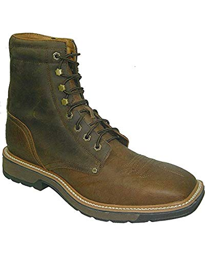 Men's Lite Cowboy Lacer Workboot - Distressed Saddle/Distressed