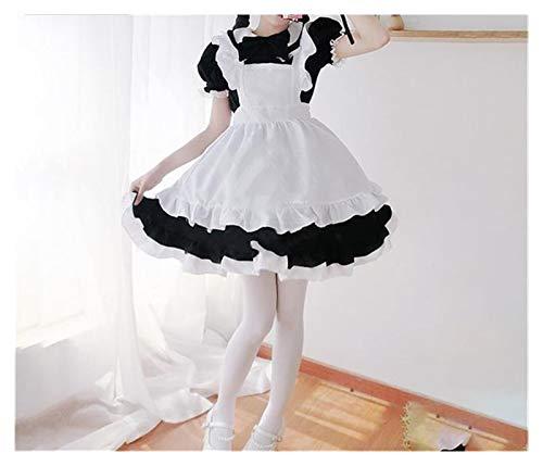 DSJTCH Alicia en el país de Las Maravillas Traje Lolita Vestido Moda Cosplay Navidad Carnaval Disfraces de Halloween Mujeres Maid Lolita Cosplay Traje (Color : Black, Size : Medium)