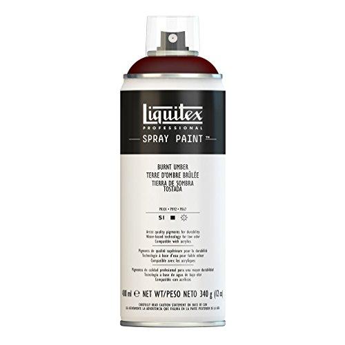 Liquitex Professional Spray Paint - Acrylfarbe, Farbspray auf Wasserbasis, lichtecht, 400 ml - Umbra Gebrannt