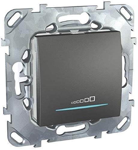 Schneider Electric SC5MGU551512ZD Unica Top - Mecanismo de interruptor regulable, color grafito