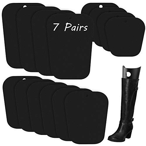 FEPITO 7 pares de insertos de forma de bota reutilizables para botas altas Inserciones de soporte Soporte para mujeres